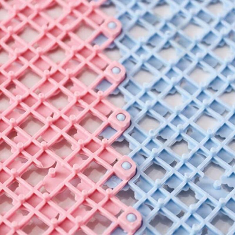 25*25cm Bathroom Anti-Skid Mat Plastic Floor Mat Kitchen Bathroom Carpet Toilet Bath Mat DIY Shower Bath Carpet Rug Door Mat 4