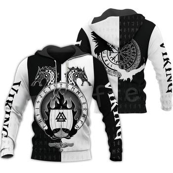 Tessffel Unisex Vikings Tattoo Viking Warriors NewFashion Harajuku MenWomen HipHop 3DPrint zipper/Sweatshirts/Hoodies/Jacket s10 1