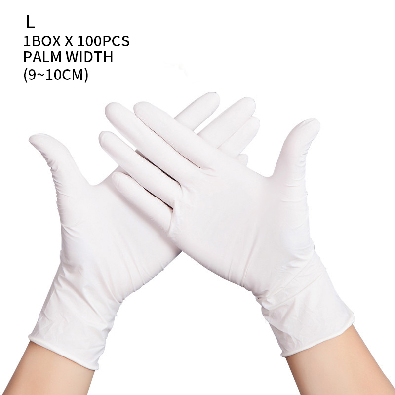 100 PCS Disposable Nitrile Gloves and Multi Purpose Latex Gloves for Virus and Flu Protection 43