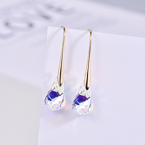 Image 5 - Original Crystal From SWAROVSKI Helix Pendant Drop Earrings For Women Fashion Gold Color Pendant Dangle earrings Jewelry Gift