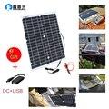 XINPUGUANG монокристаллический 5 В USB 20 Вт 12 вольт солнечная панель струящаяся Автомобильная батарея зарядное устройство Бесплатная доставка 18 в...