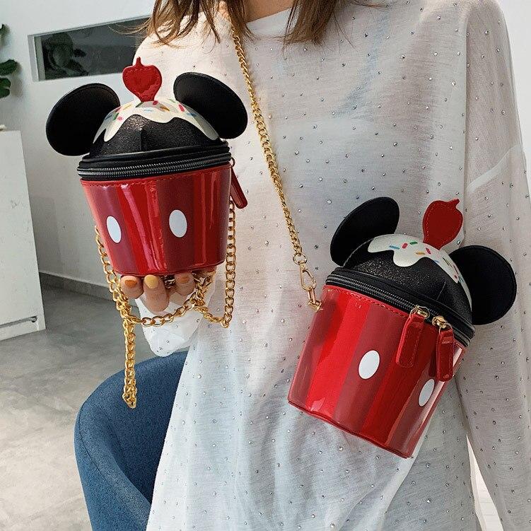 WOMEN'S Bag Summer INS Korean-style Shoulder Bag Cute Bag Versatile Bag Chain Bag Cartoon Mobile Phone Bag Women's