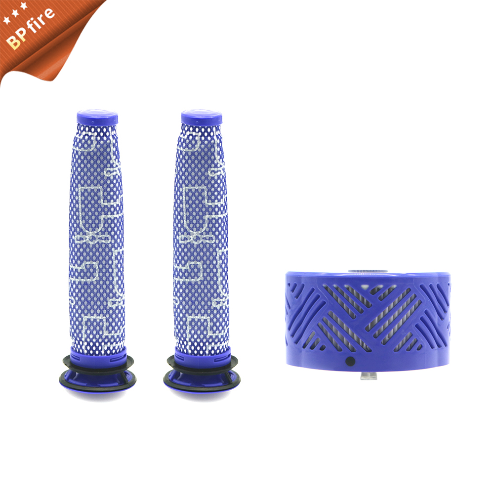 3pcs/set Pre & Post-Motor HEPA Filter Kit For Dyson V6 DC59 Vacuum Cleaner Parts Fit Part DY-96674101 & DY-96566101