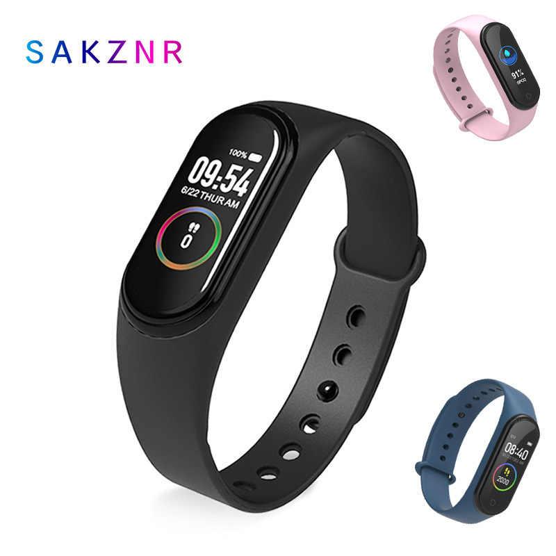 新しい M4 スマートバンドフィットネストラッカースマート腕時計スポーツスマート心拍血圧 Smartband モニター健康リストバンド