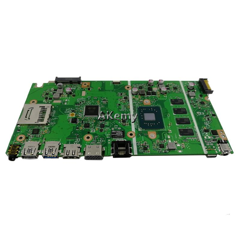 For ASUS X541NA X541N X541NA Laptop Motherboard Quad core N3350 4G RAM Mainboard