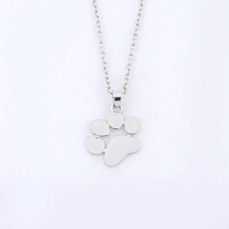 Cute Dog pazur srebrny naszyjnik dla kobiet moda Choker złoty łańcuch zwierząt pazur biżuteria Choker naszyjnik kobiety akcesoria Bff prezent