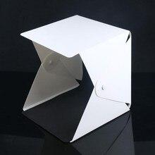 Портативный складной светодиодный светильник s Studio Shooting Tent Box Kit Аксессуары для лайтбокса двойная студия кнопка ряд светильник
