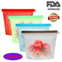 RASABOX -Reusable Silicone Food Storage Bags, Airtight Seal Preservation for Vegetable, Liquid, Snack, Meat, Sandwich