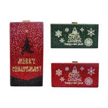 Роскошные merry Рождественская сумка в виде елки Стразы с украшениями