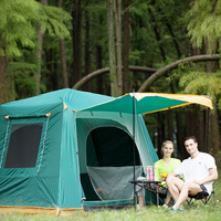 New arrival automatic double layer waterproof 4 5 person use ultralarge camping tent with snow skirt