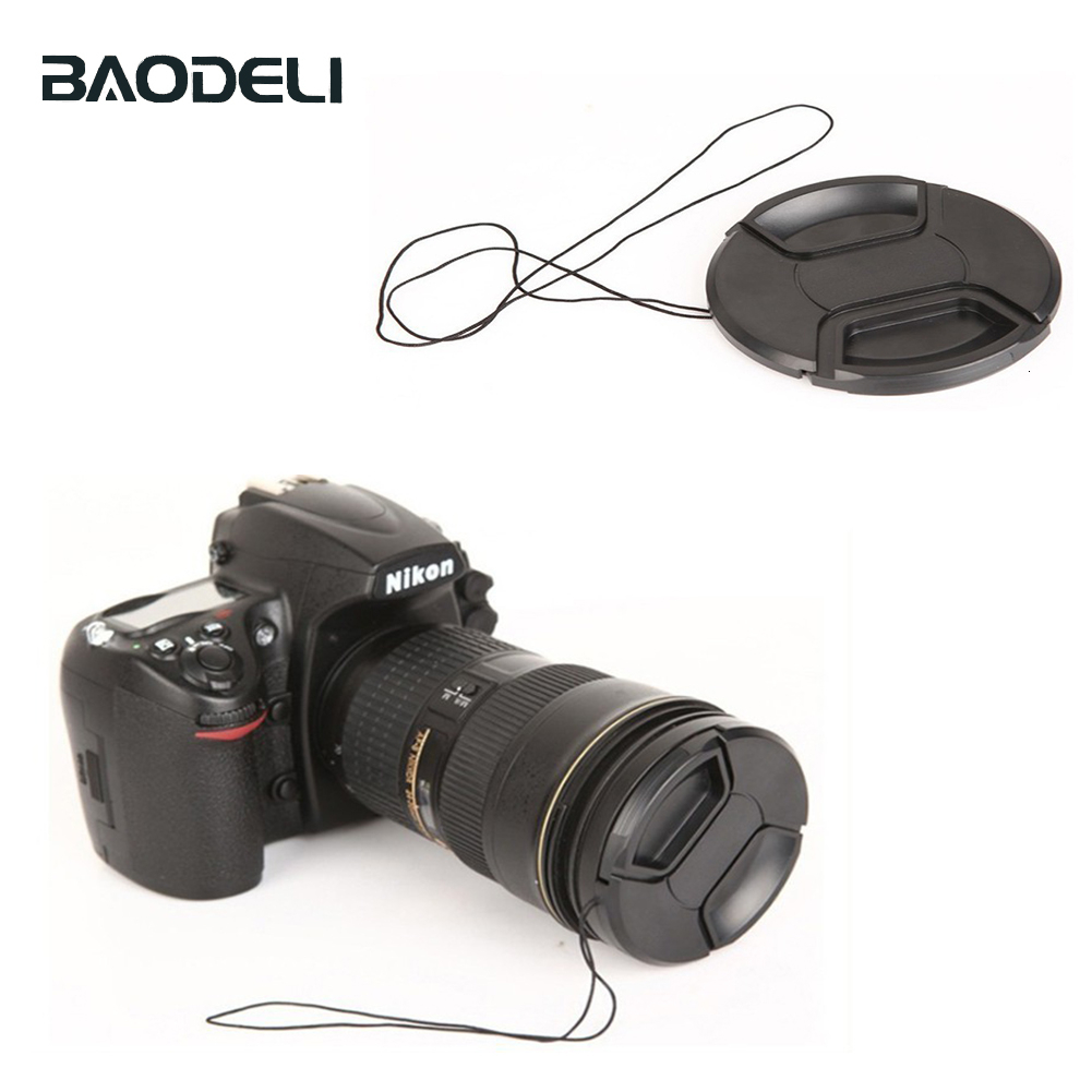 BAODELI Camera Cover <font><b>Lens</b></font> <font><b>Cap</b></font> 46 49 52 55 <font><b>58</b></font> 62 67 72 77 82 <font><b>Mm</b></font> For Canon 77d Nikon D 3400 5100 5600 Sony A6000 Rx100 Accessories image