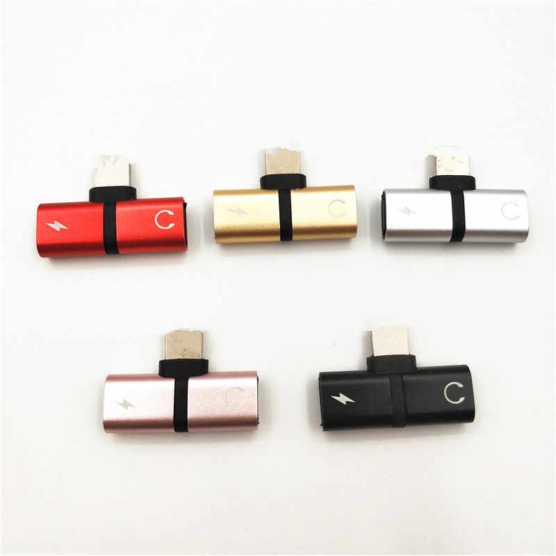 2in1 Audio Opladen Dual Adapter Splitter Voor Iphone 8 7 Plus 10 X Voor Bliksem Jack Naar Oortelefoon Aux Kabel connector Converter
