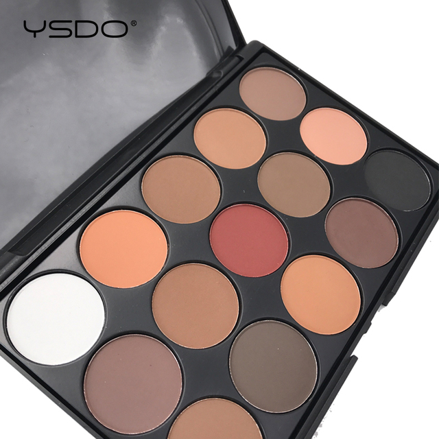 15 Colors Eyeshadow Palette Matte Eye shadow Long lasting Easy to Apply Professional Eyeshadow Eye primer Beauty Makeup Tools 01 1