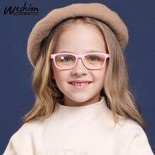 Винтажный синий светильник, детские очки, розовая детская оптическая оправа для мальчиков и девочек, прозрачные солнцезащитные очки, анти-фильтр, компьютерный рецепт, УФ