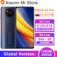 Глобальная версия POCO X3 Pro 128/ 256 ГБ Встроенная память Смартфон Snapdragon 860 120 Гц DotDisplay 5160 мА/ч, Батарея 48MP Quad AI Камера NFC