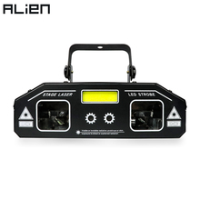 ALIEN 3 IN 1 DJ Disco Laser Beam Scanner Patterns Star Strobe Light Projector Party Holiday Bar Dance Xmas Stage Lighting Effect