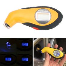 Car Tire Manometer Barometers Tester Tool with Electronic Digital LCD Tyre Air Pressure Gauge Meter For Auto Car Motorcycle
