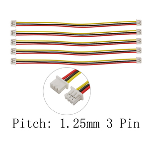 20/10/5Pcs 3P JST Cable Connector Micro JST PH 1.25mm 3 Pin Double Female Plug Connectors With Wire Cables 10CM 15CM 20CM 30CM