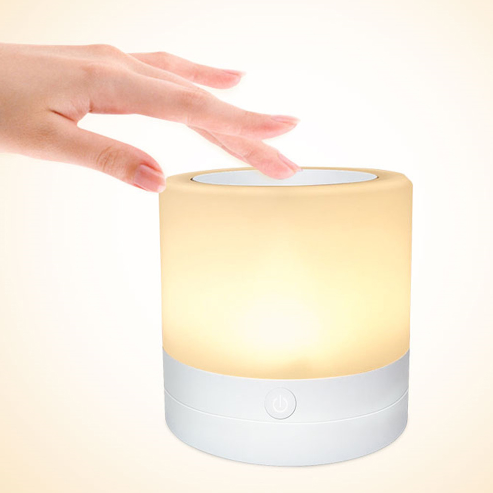 LED Color Changing Atmosphere Night Light Touch Control Induction Dimming Light Dimming Color Charging USB Smart Bedside Lamp