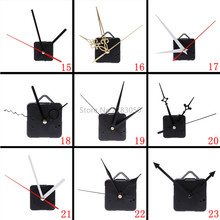 Silencieux grande horloge murale Quartz horloge mouvement mécanisme mains horloge réparation outil pièces Kit ensemble bricolage 27 Types