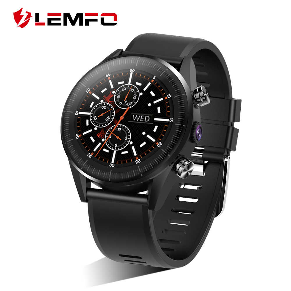 LEMFO KC05 4G Smart Uhr Männer Android 7.1.1 Quad Core GPS 5MP Kamera 610Mah Batterie Smartwatch Ersatz Strap DIY uhr gesicht-in Smart Watches aus Verbraucherelektronik bei  Gruppe 1