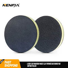 6 inch Car Washing Magic Clay Sponge Bar Round Pad before Polish & Wax for Auto Skin Care Detail Cleaning Car Paint Care Repair