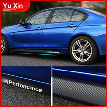 For BMW F20 F21 F30 F31 F32 F33 F34 F15 F16 F10 F02 F11 F01 E92 E60 E61 M Performance Side Skirt Sill Stripe Body Decals Sticker 2x new m performance side skirt stripes sticker for bmw f30 f31 x5 f15 f10 f20 f21 f85 e60 f32 f34 f22 f23 e90 f11 f01 f02 g30