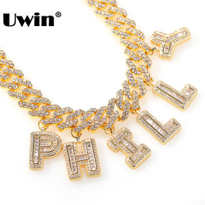 UWIN Fashion Jewelry Necklace Letter Miami Cuban Hiphop S-Link Wholesale Mens Add 12mm
