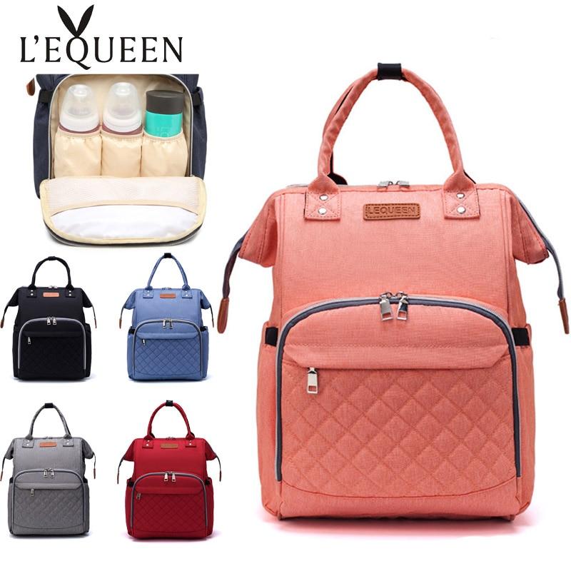 Lequeen Diaper Bags Waterproof Travel Baby Nappy Backpack Outdoor Stroller Organizer Bag Maternity Nursing Backpacks
