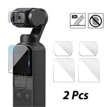 DJI Osmo cep ekran koruyucu aksesuarları Lens koruyucu Film Gimbal kapak Accesorios filtre DJI Osmo cep