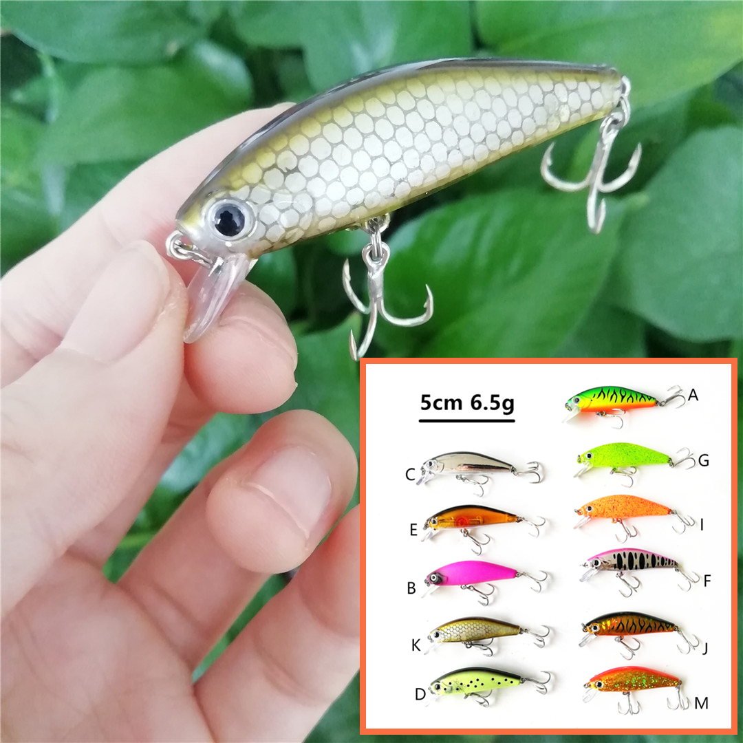 Swolfy 11pcs 5cm 6.6g Sinking Mini minnow Wobbler Fishing Lure Artificial Hard Bait Trout Crankbait Fishing Tackle
