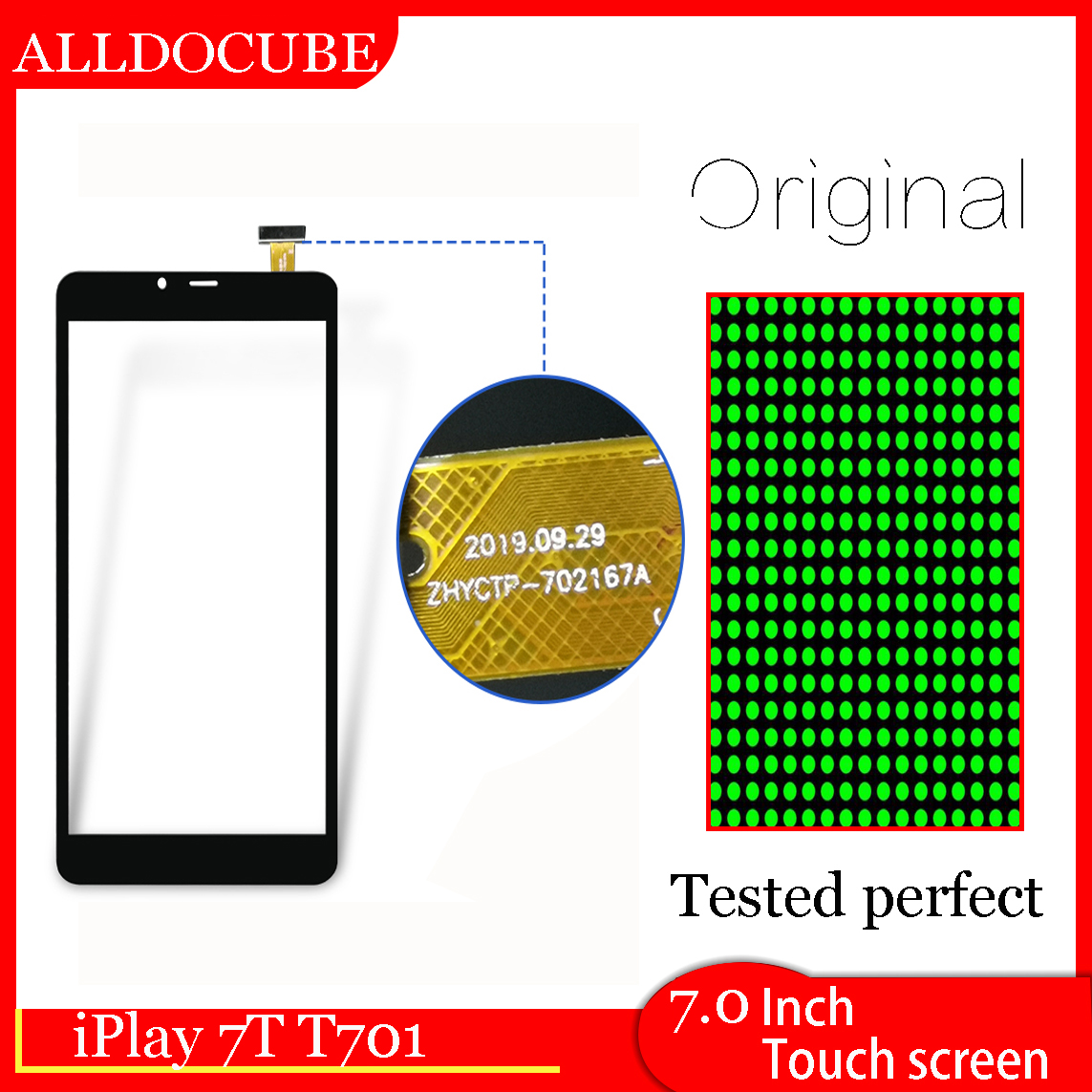 "Original 7"" ALLDOCUBE iPlay 7T T701 UNISOC SC9832E Tablet Touch Screen Touch Panel Digitizer Glass Sensor