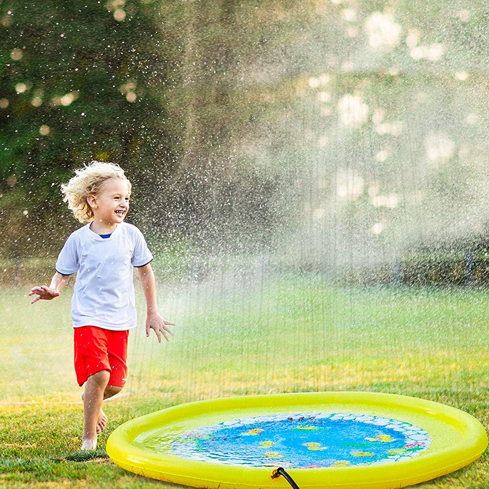 Sprinkler Pad For Kids Upgrade Thicken Outdoor Splash Pad For Toddlers Baby Outside Summer Water Play Mat Wading Pool For Kids