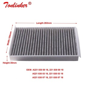 Image 3 - Cabin Filter A2218300038 2 Pcs For Mercedes Benz S CLASS W221 S 250 280 300 320 350 400 450 500 600 S63 S65 AMG 2006 2013 Model