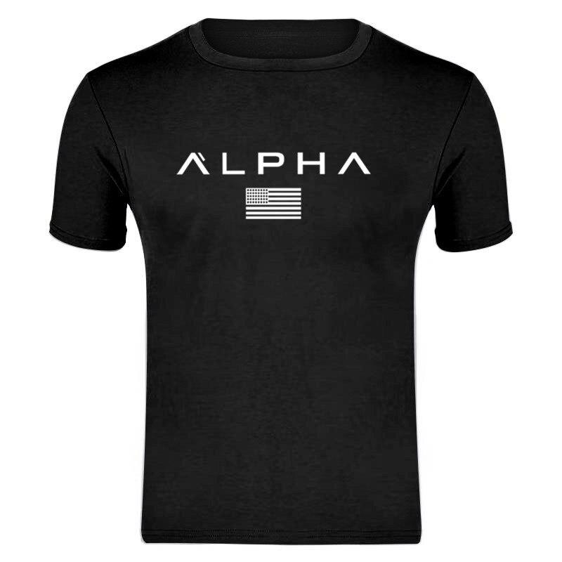 ALPHA T Shirt 2019 Fashion Printed Cotton Short Sleeve Couple T Shirt Design Man's T-shirt O-Neck Shirt Asian Size S-XXXL