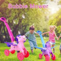 Electronic Automatic Bubble Mower Walker Bubble Blower Maker Bubble Blowing Show Kids Indoor Outdoor Sports Toy