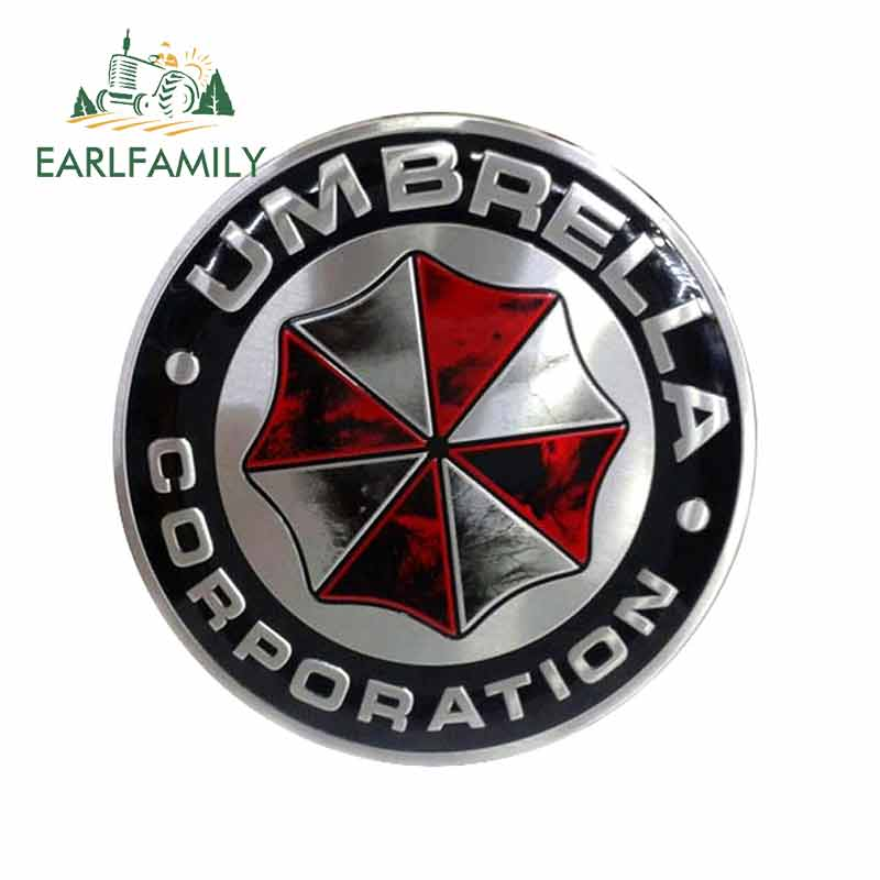 EARLFAMILY 13cm X 12.8cm For UMBRELLA CORPORATION Motorcycle Stickers Vinyl Car Wrap Fashion Decals Scratch-proof Car Sticker