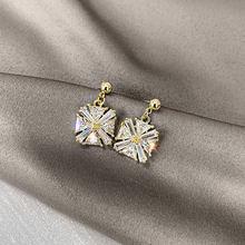 Блестящие женские серьги подвески ustar милые золотые геометрические