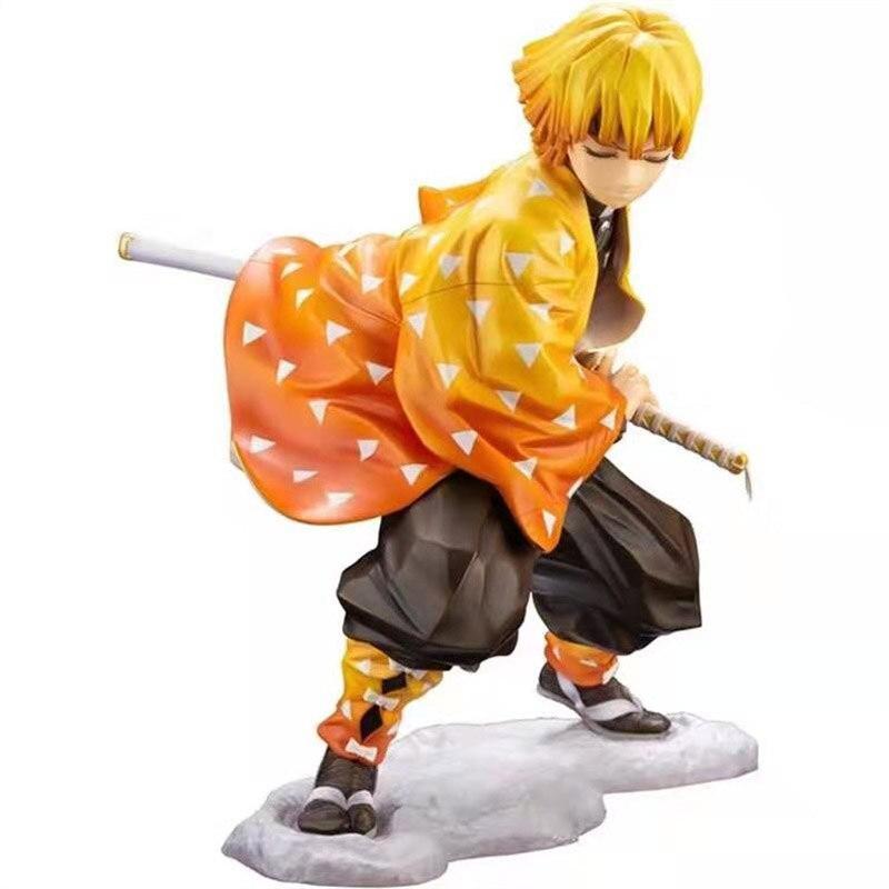 2020 Anime Figurine Demon Slayer Kimetsu No Yaiba Kamado Tanjirou Agatsuma Zenitsu Kamado Nezuko PVC Figure Collection Toys