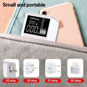 Image 5 - QC3.0 מהיר טעינת סוג C USB מטען 4 יציאות נייד טלפון מטען 30W LED תצוגה עבור iPhone סמסונג נסיעות קיר מטען