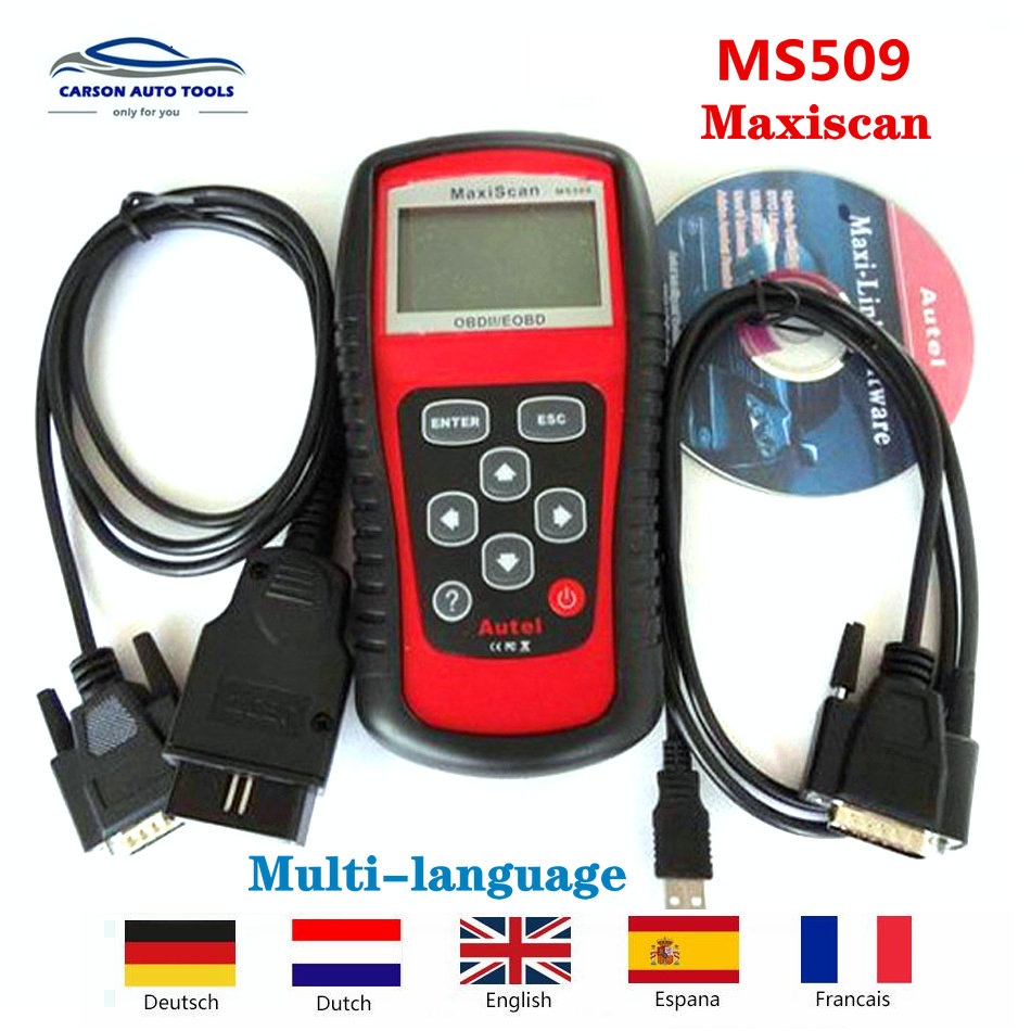 2019A-utel MaxiScan MS509 OBDII OBD2Automotive Code Reader Scanner Car Diagnostic Tool Professional MaxiScan MS509 Scanner