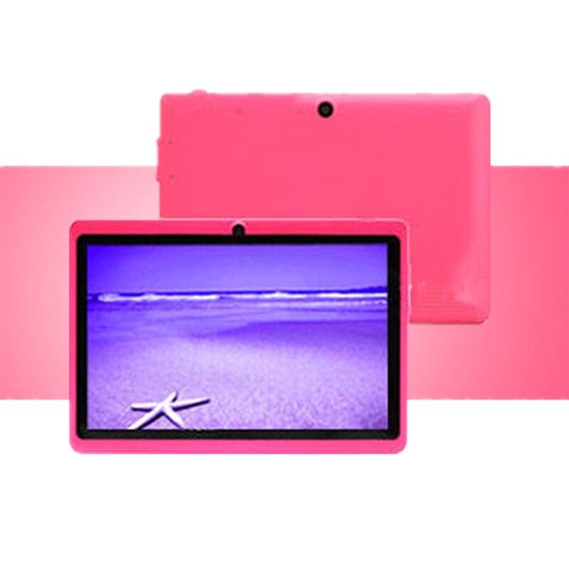 7 pouces enfants tablette Android Quad Core double caméra WiFi éducation jeu cadeau pour garçons filles, rose - 4