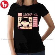 Shiba Inu T-Shirt Shiba Novel T Shirt Cotton Casual Women tshirt Red Plus Size Funny O Neck Ladies Tee Shirt