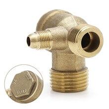 Мужская резьба 3 способ Металлический воздушный компрессор обратный клапан Золотой Тон& Прямая поставка