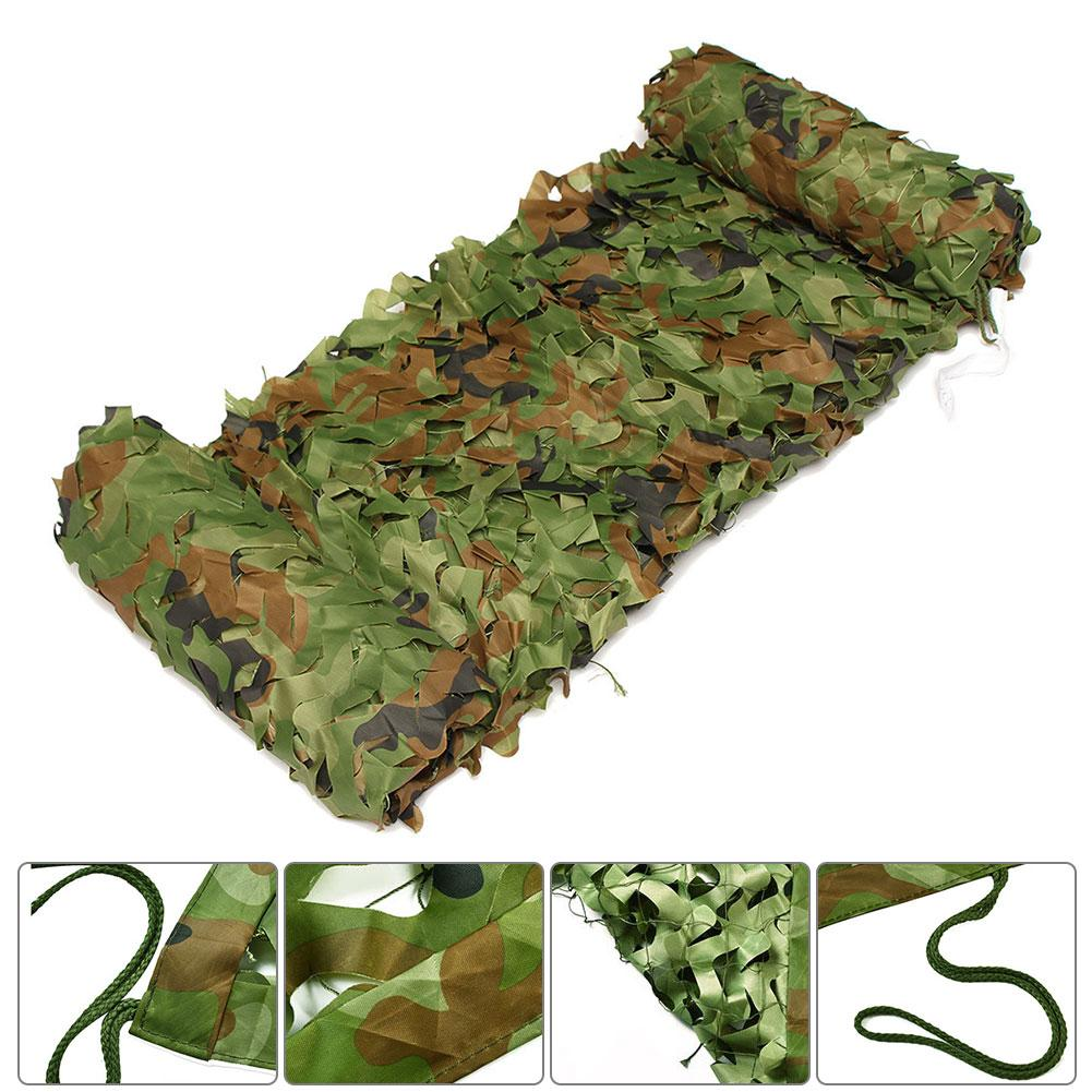 3x4m Woodland Camo Netting Camouflage Net Privacy Protection Camouflage Mesh For Outdoor Camping Forest Landscape