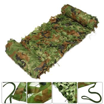 3x4m Woodland Camo Netting Camouflage Net Privacy Protection Camouflage Mesh For Outdoor Camping Forest Landscape vilead 2m 5m blue camouflage netting camo netting for camping paintball game outdoor balcony tent party decoration car covers