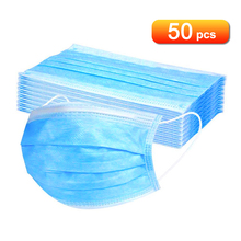 50 шт маска одноразовая маска Нетканая ткань дышащая маска для лица