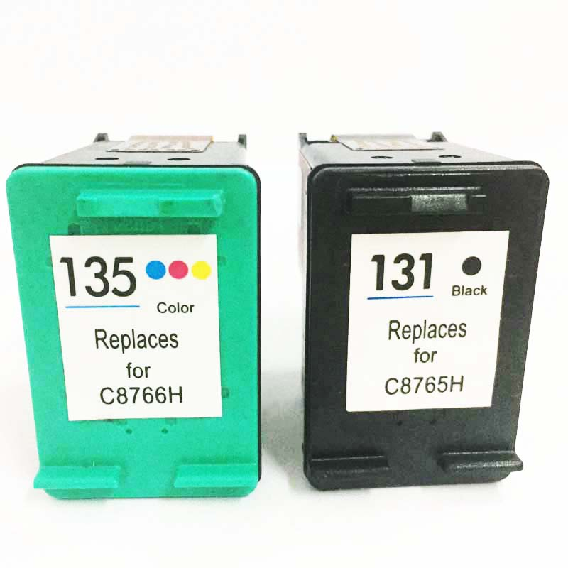 einkshop 131 135 Refilled <font><b>Ink</b></font> Cartridges Replacement for <font><b>hp</b></font> 131 135 Photosmart <font><b>C3100</b></font> C3183 C3150 C3180 PSC1500 1510 1513 1600 image