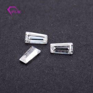 Image 4 - D color 1pcs 4 carat 8*10mm Radiant cut and 2pcs 5x4x2mm 0.4ct taper cut moissanite 3ex VVS for ring bracelet necklace