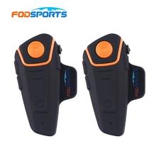 Fodsports BT S2 Pro Motorcycle Wireless Bluetooth Intercom Headsets 1000m Motorbike BT Interphone with FM Radio Waterproof IPX6